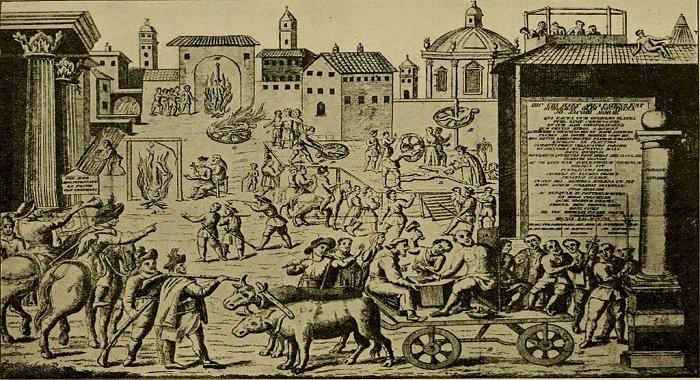 Italia, poarta de intrare în Europa a ciumei și a... coronavirusului